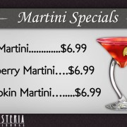 Bellini Osteria Bar and Lounge Restaurant Digital Signage Menu
