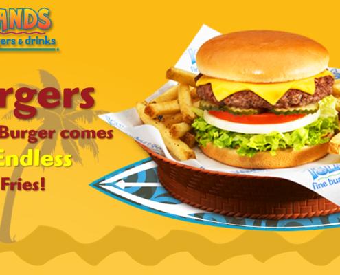 Islands Burger Restaurant Digital Signage Menu Eyeconic Total System Solution