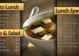 Yamato Restaurant Digital Signage Menu Eyeconic Total System Solution