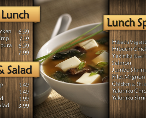 Yamato Restaurant Digital Signage Menu Eyeconic Total System Solution