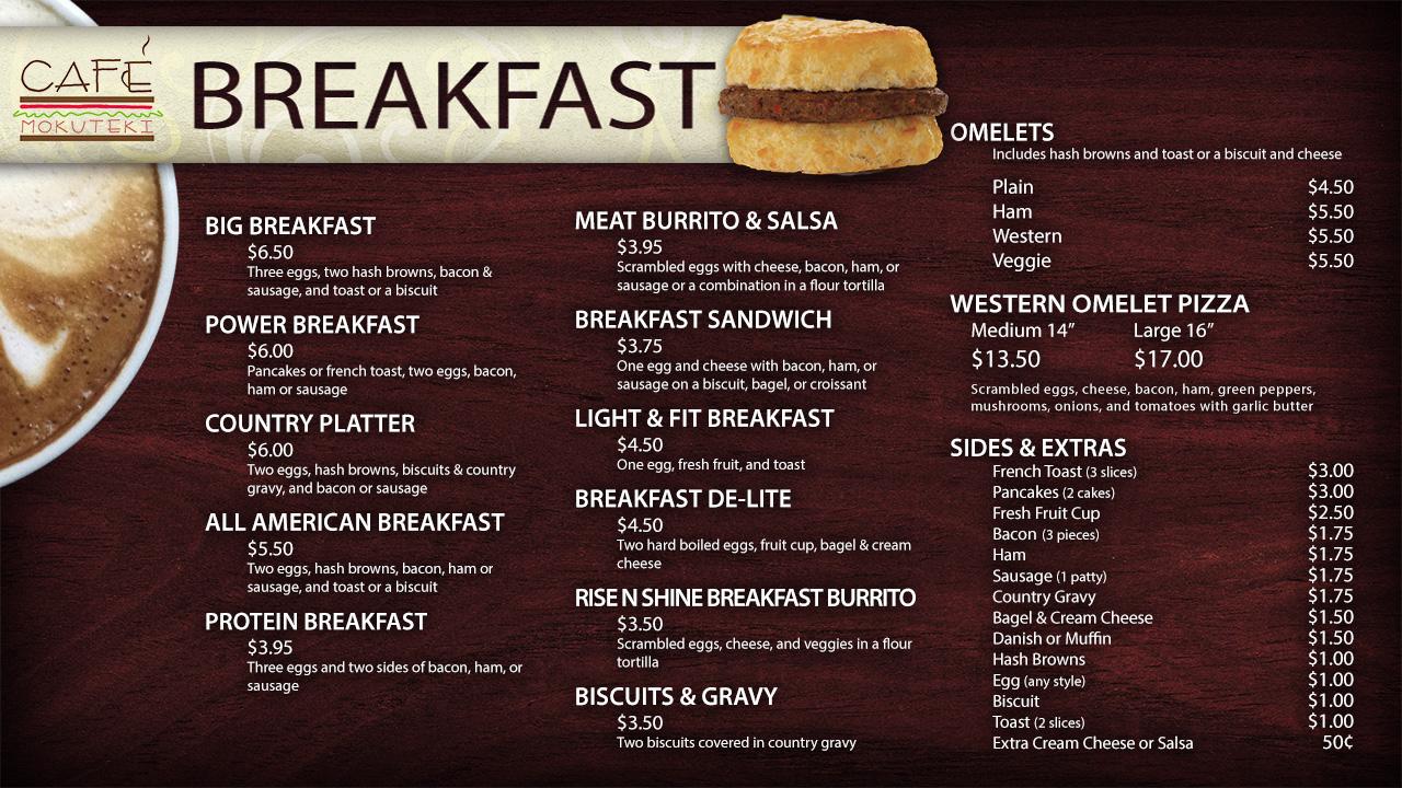 Red butter cafe menu